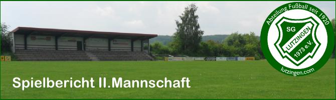 II.Mannschaft: FC Medlingen II – SGL II 2:1